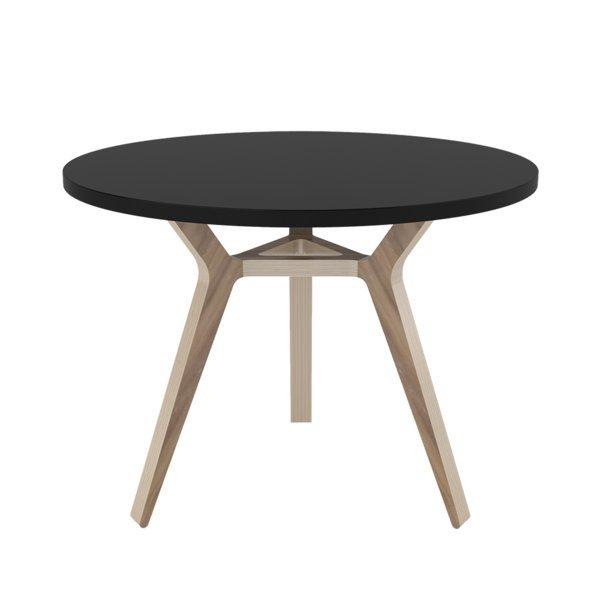 Стол Unika Täby 90 орех/графит