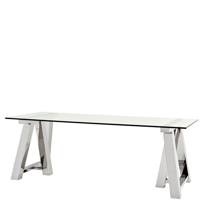 Обеденный стол Eichholtz Table Marathon из нержавеющей стали