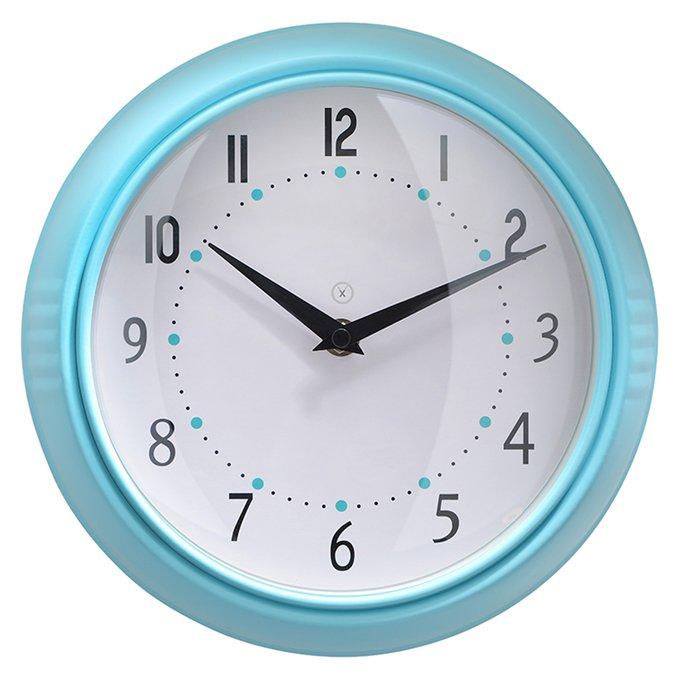 Настенные часы Milano бело-бирюзового цвета