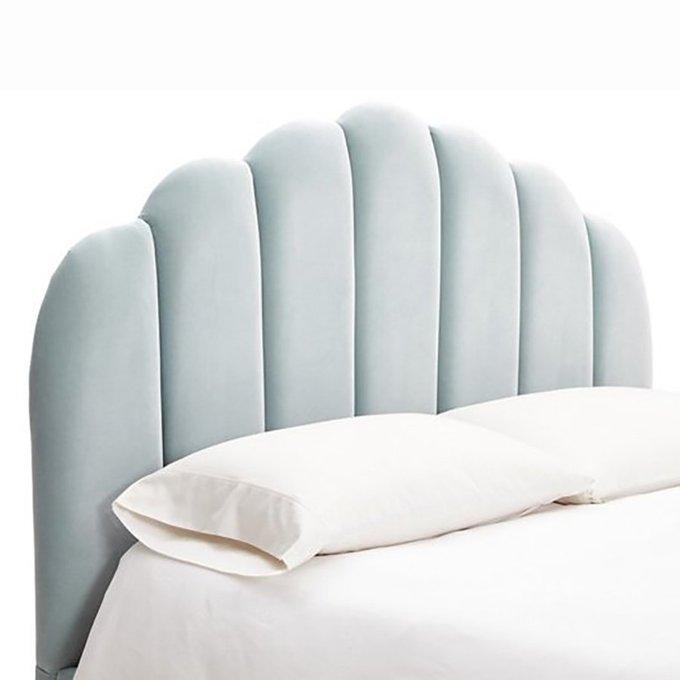 Кровать Sutton Scalloped голубого цвета 180x200