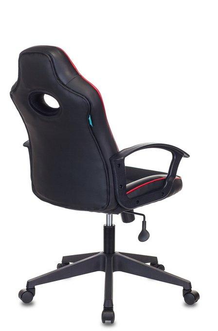 Кресло игровое Бюрократ черно-красного цвета