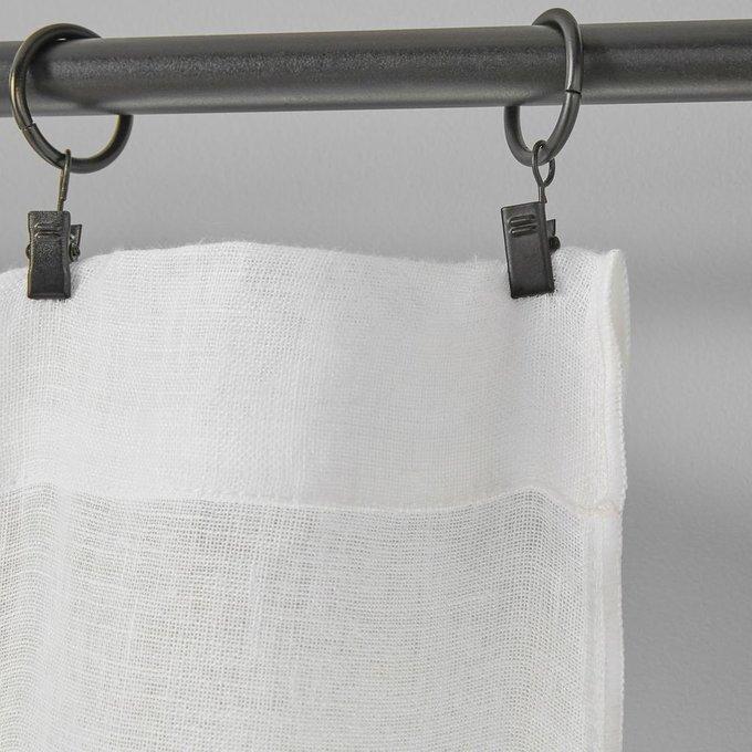 Занавеска Onega из льна белого цвета 350x135