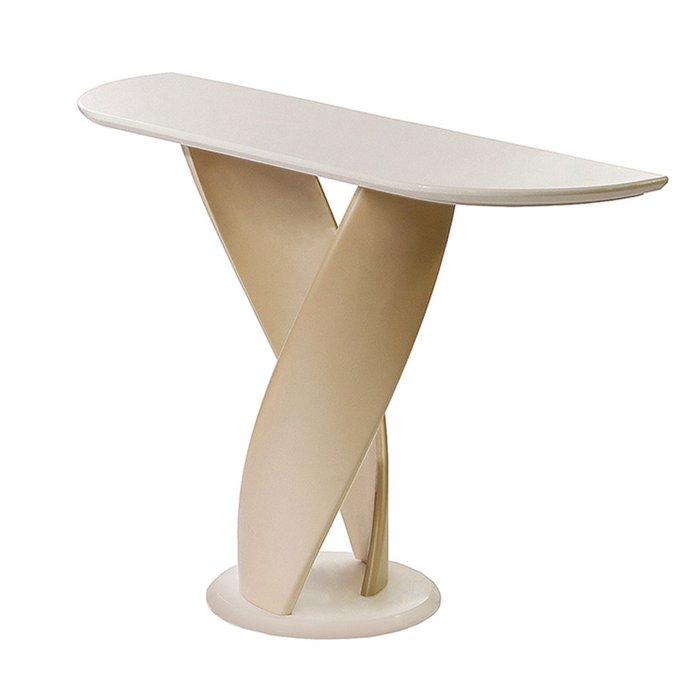 Консольный стол Virtuos с подстольем из гнутого натурального дерева