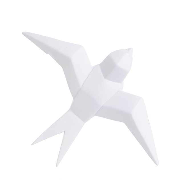 Декор настенный Птица белого цвета