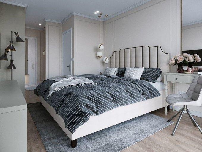 Кровать Даллас 140х200 тёмно-синего цвета  с подъемным механизмом