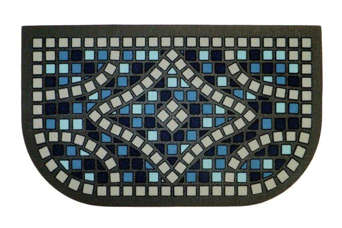 Придверный коврик сине-серого цвета 40х68