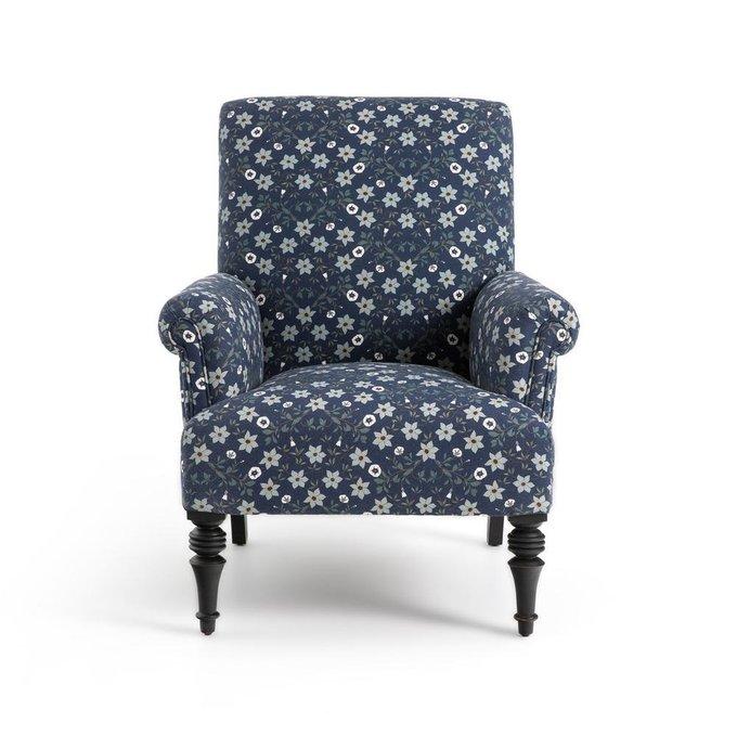 Кресло английское Diane с набивным рисунком
