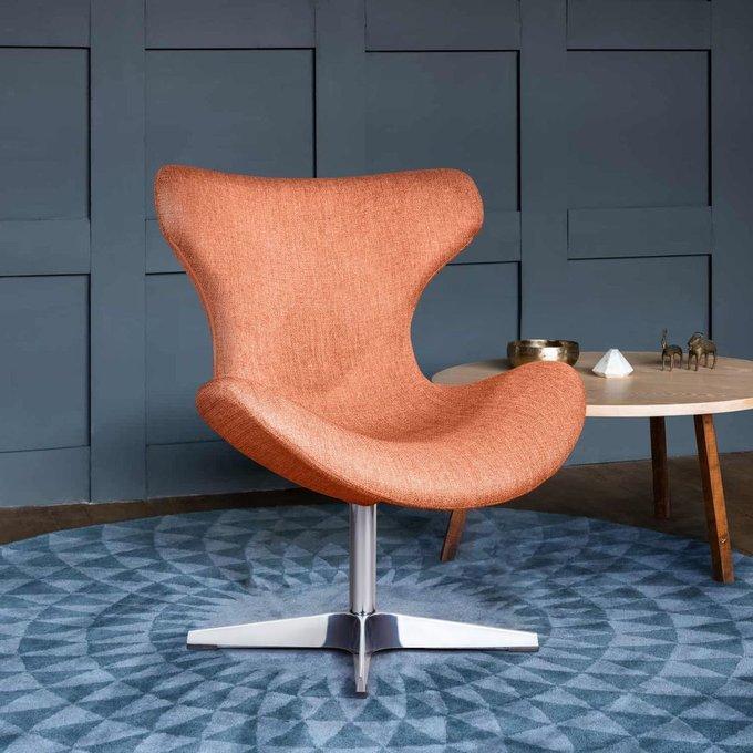 Лаунж кресло Vibe рогожка оранжевого цвета