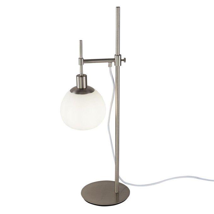 Настольная лампаi Erich с плафоном из стекла белого цвета