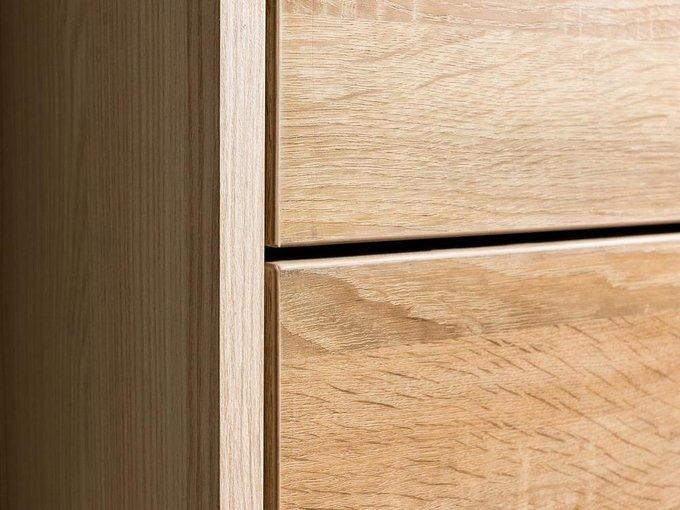Шкаф для обуви Wide с тремя дверцами коричневого цвета