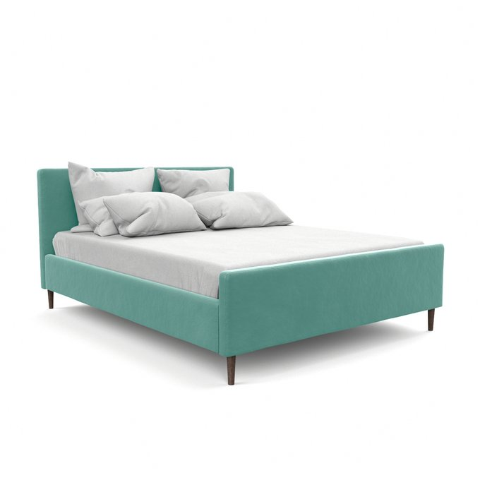 Двухспальная кровать Кристина бирюзового цвета 140х200