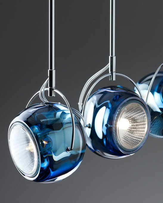Подвесной светильник Fabbian Beluga из метала и хрусталя