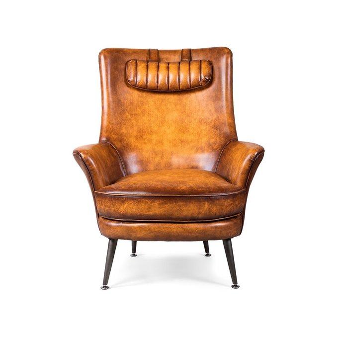 Кресло Mooli коричневого цвета