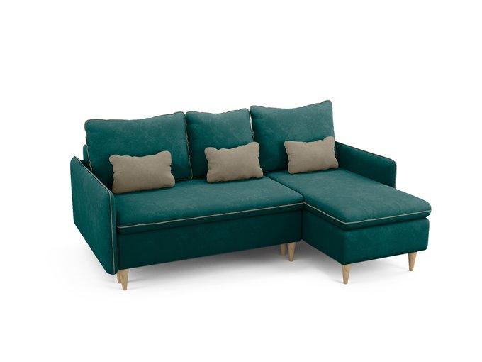 Угловой диван-кровать Ron темно-бирюзового цвета