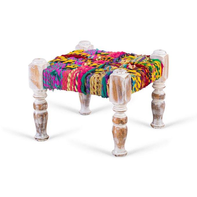 Набор из трех банкеток Indi Colorful с деревянным каркасом