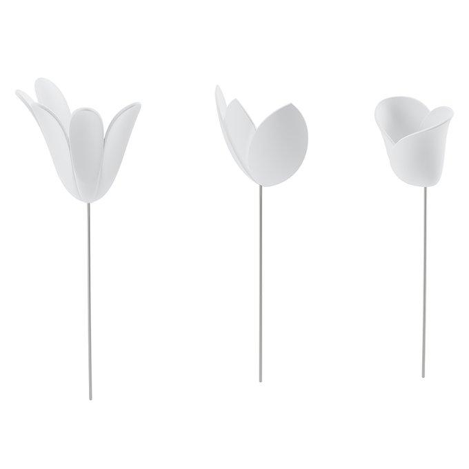 Декор для стен bloomer из девяти элементов белого цвета