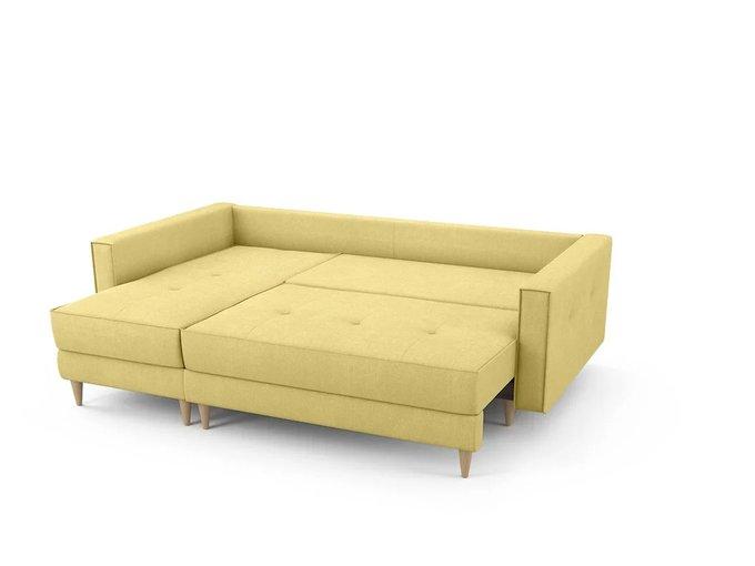 Диван-кровать Отто левый желтого цвета
