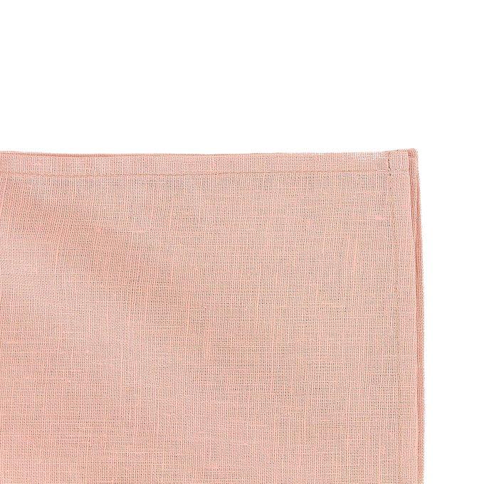 Скатерть на стол из умягченного льна с декоративной обработкой цвета пыльной розы