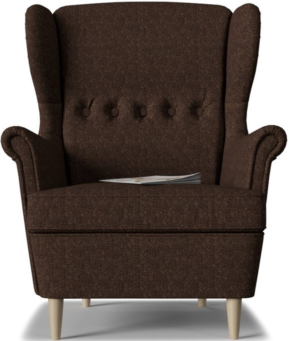 Кресло Торн Brown темно-коричневого цвета