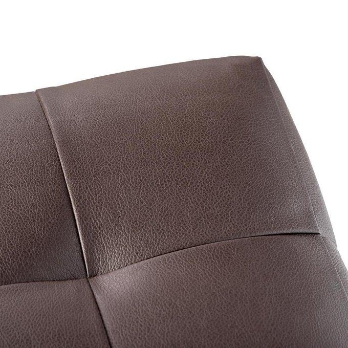 Пуф Руби Paris из экокожи коричневый