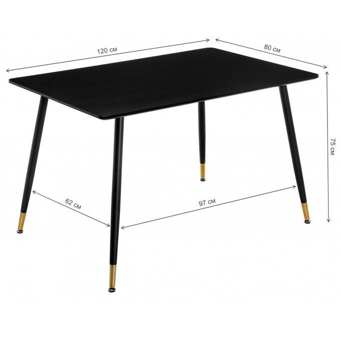 Обеденный стол Bianka черного цвета