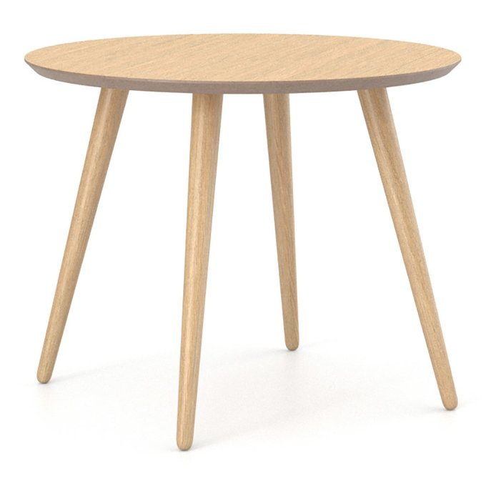 Обеденный стол Ronda Round 100 беленый дуб