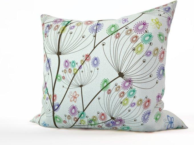 Дизайнерская подушка: Цветные зонтики