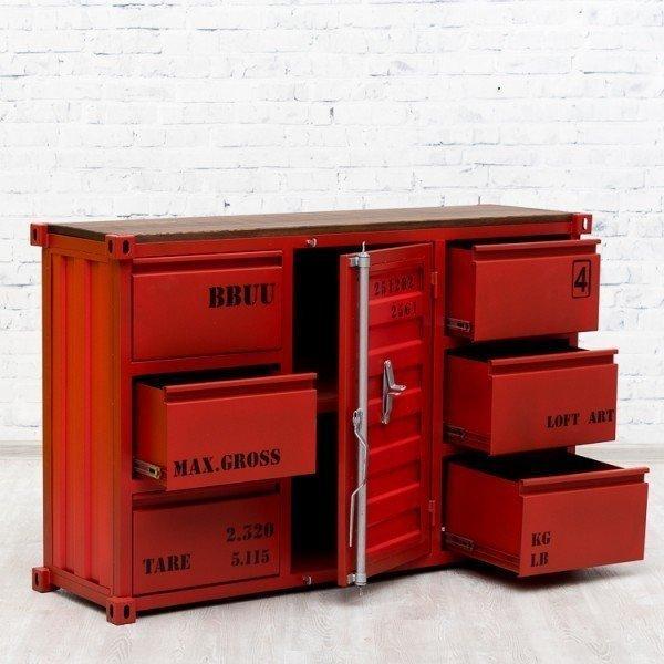 Комод Sea Container с ящиками и дверцей