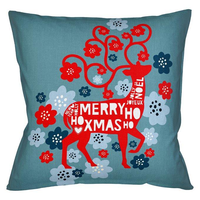 Декоративная арт подушка Новогоднее настроение версия 7