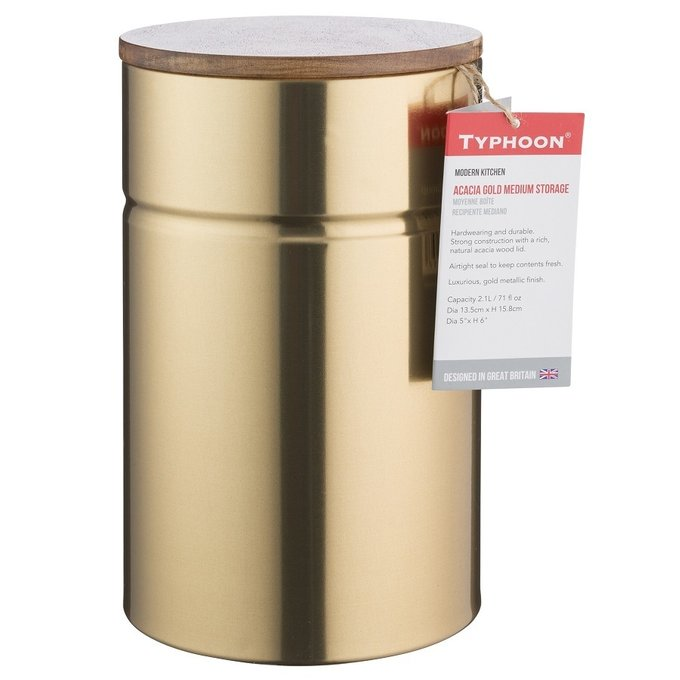Емкость для хранения Modern Kitchen золотого цвета