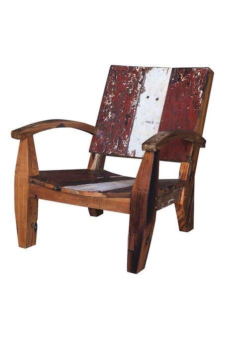 Кресло Ньютон из массива древесины рыбацкого судна