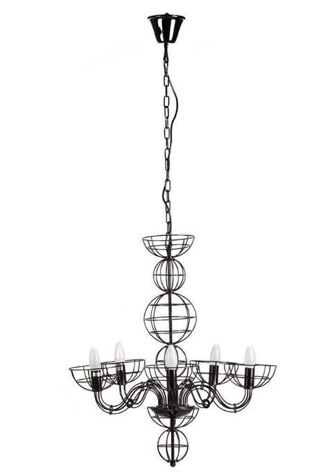 Подвесная люстра Barcelo из металла черного цвета