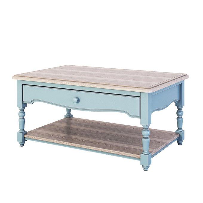 Журнальный столик Leblanc голубого цвета