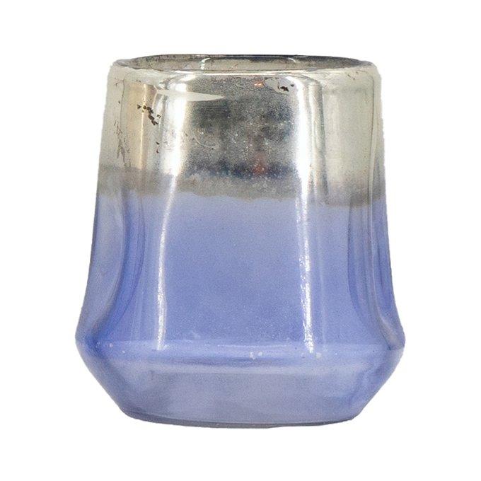 Подсвечник Синий из стекла