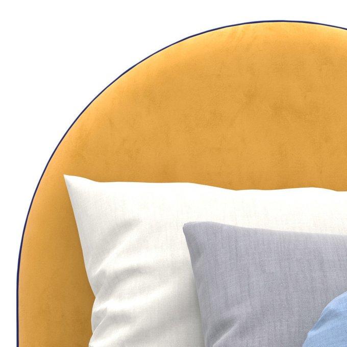 Односпальная кровать Alana на ножках желтого цвета 90х200