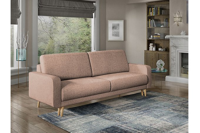 Диван-кровать Микаэле коричневого цвета