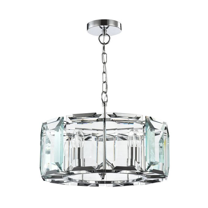 Подвесная люстра Maytoni Cerezo с декоративным плафоном из стекла