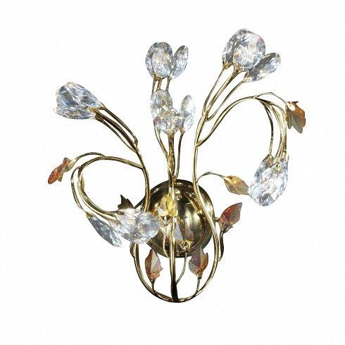 Бра L'Originale MATISSE в золотой отделке с элементами из прозрачного и янтарного хрусталя