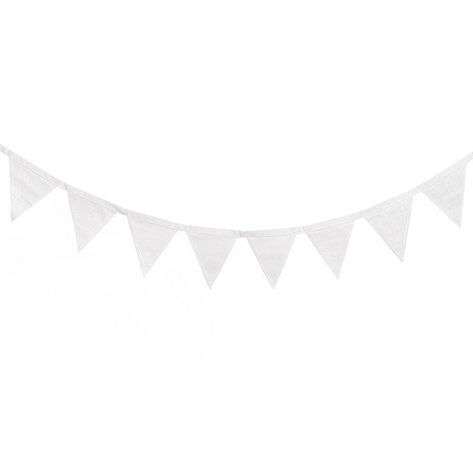 Гирлянда из флажков Simple White из 100% хлопка
