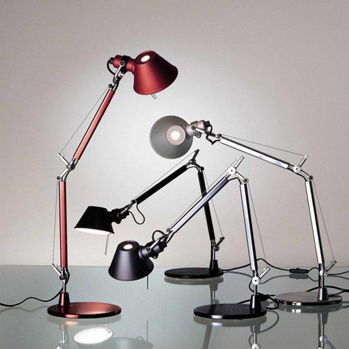 "Настольная лампа ""Tolomeo micro tavolo - Halo Anodized red"""