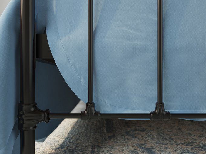 Кровать Полина 180х200 черно-глянцевого цвета