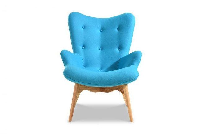 Кресло Phyllis голубого цвета