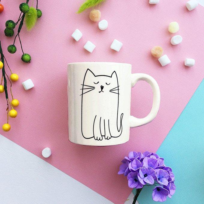 Кружка Kitty из фарфора