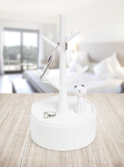 Держатель для украшений Balvi kitty белый