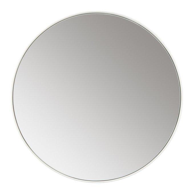 Зеркало настенное Орбита белого цвета