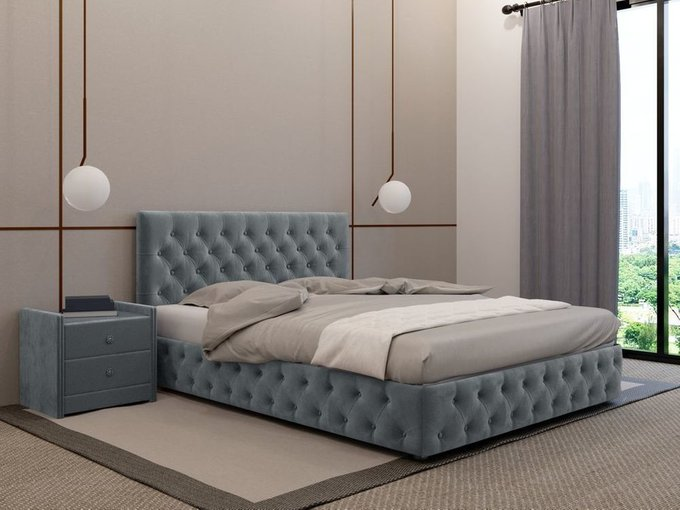 Кровать Кардинал графитового цвета 120х200 с подъемным механизмом