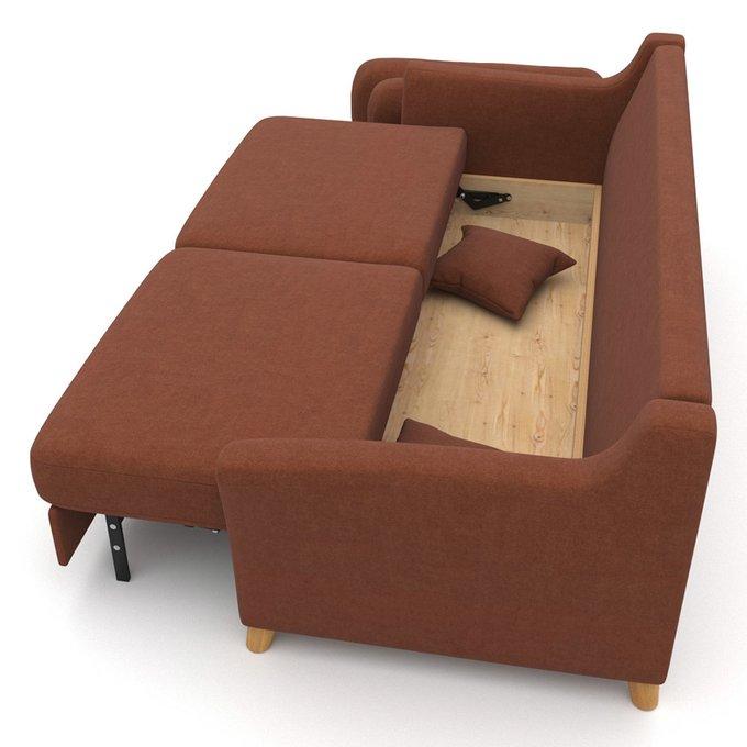 Диван-кровать Raf EKL трехместный коричневый