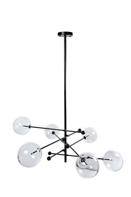 Светильник потолочный с шестью стеклянными плафонами