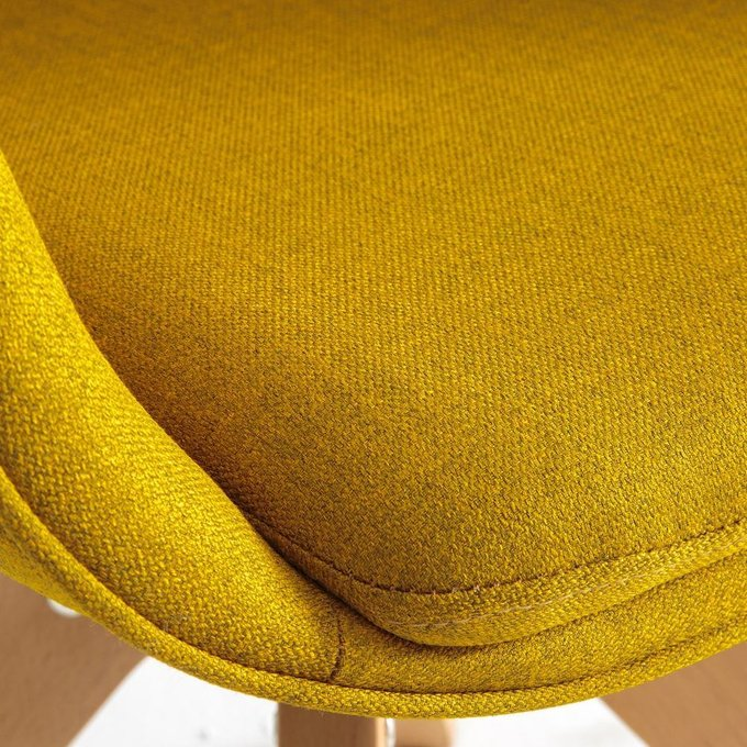 Офисное вращающееся кресло Quilda желтого цвета