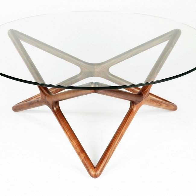 Журнальный стол Triple X со стеклянной столешницей